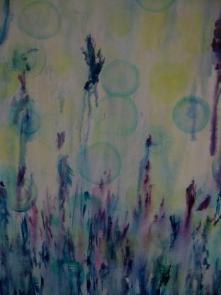 Altweibersommer, Acryl auf Leinwand, 100 x 80cm, 180€
