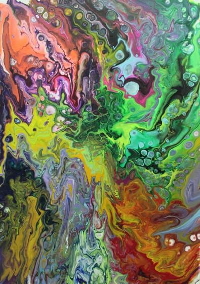 50 x 70 cm, 2019, Acryl auf Leinwand 120€